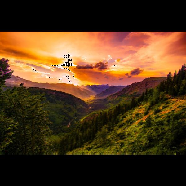 Surreal Montana Sunset