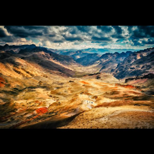 Surreal Peruvian mountains