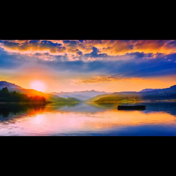 Surreal Romanian lake