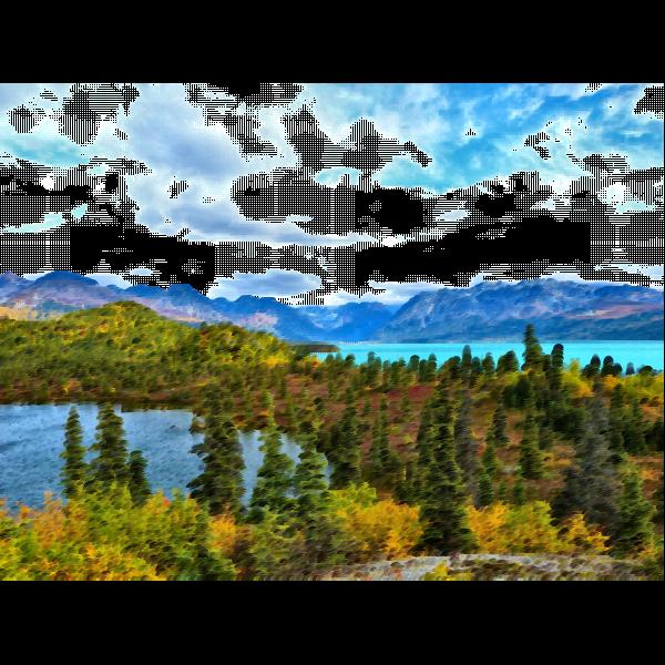 Surreal serene nature