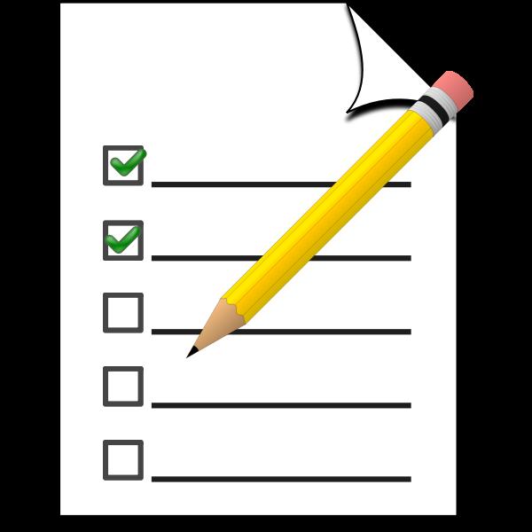 Survey icon with pencil