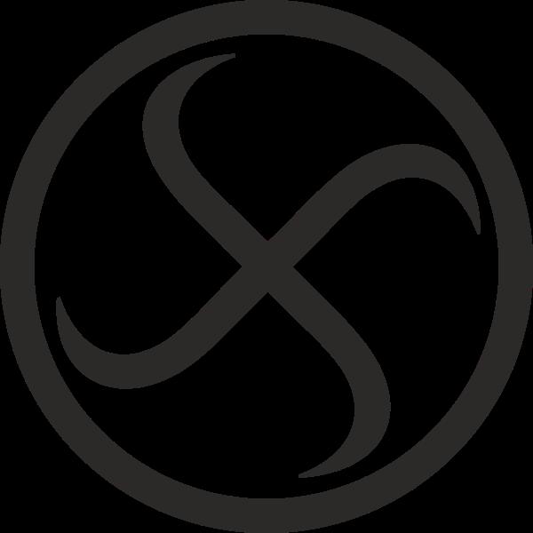 Swastika encircled rotating left vector image