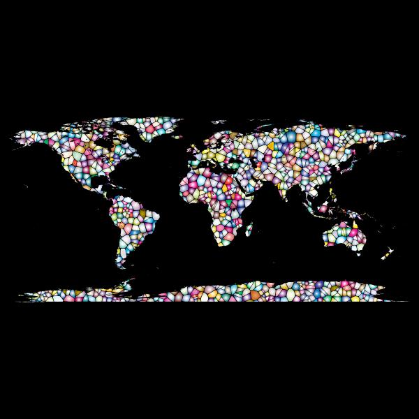 Sweet Tiled World Map