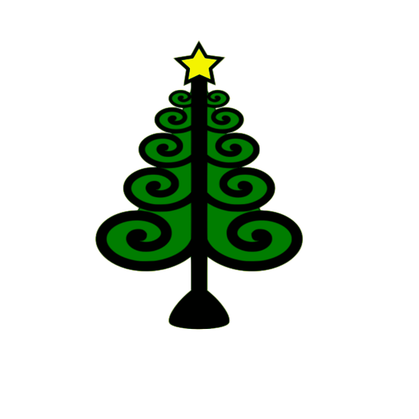 Vector image of Christmas tree