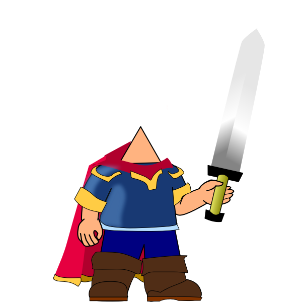 Game hero with sword
