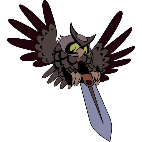 Owl with sword