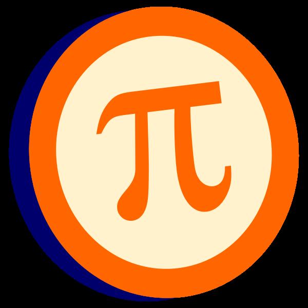 Pi symbol in a circle