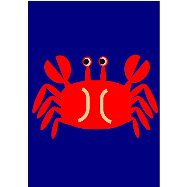 Crab sign vector clip art