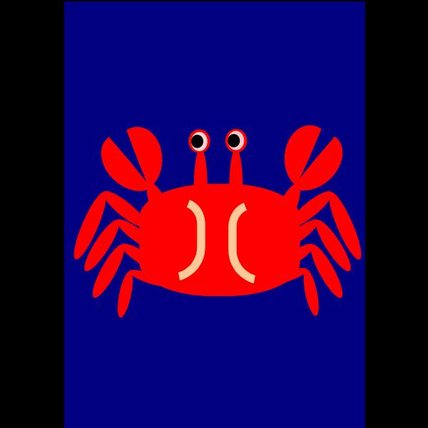 Crab sign vector clip art