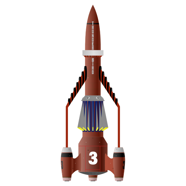 Red rocket vector image