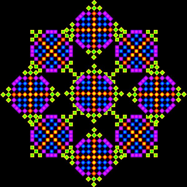 Pixelated tile pattern