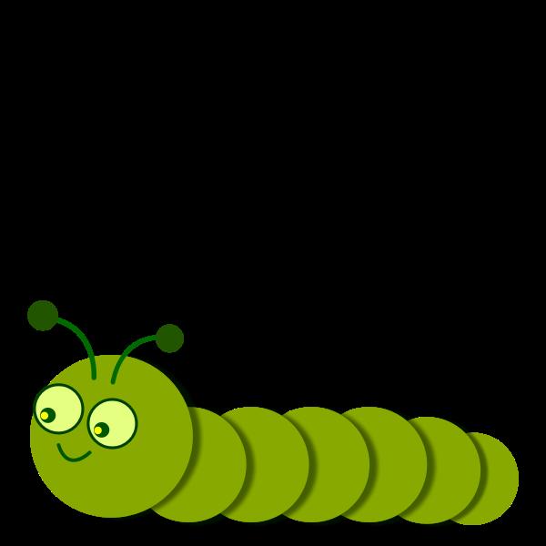 Smiling green caterpillar