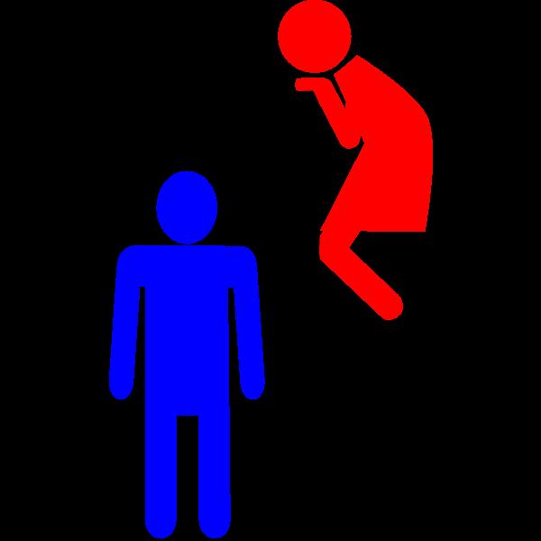 WC door signage vector image