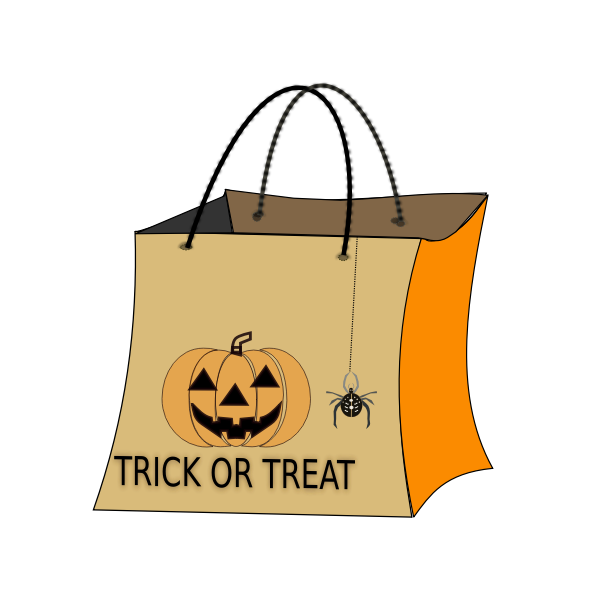Vector drawing of halloween bag