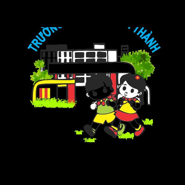 Cartoon Japanese schoolkids
