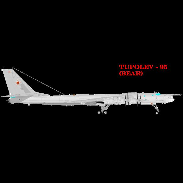 TUPOLEV 95 airplane