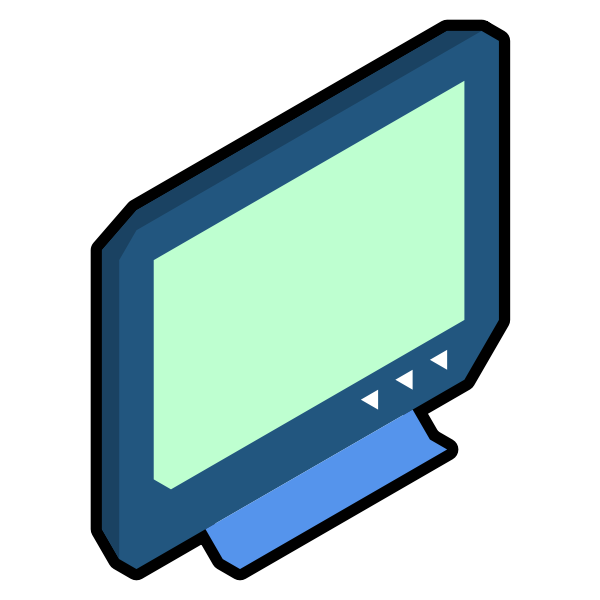 Isometric TV vector drawing