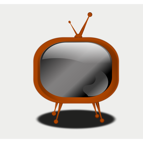 Certoon vector drawing of a TV set