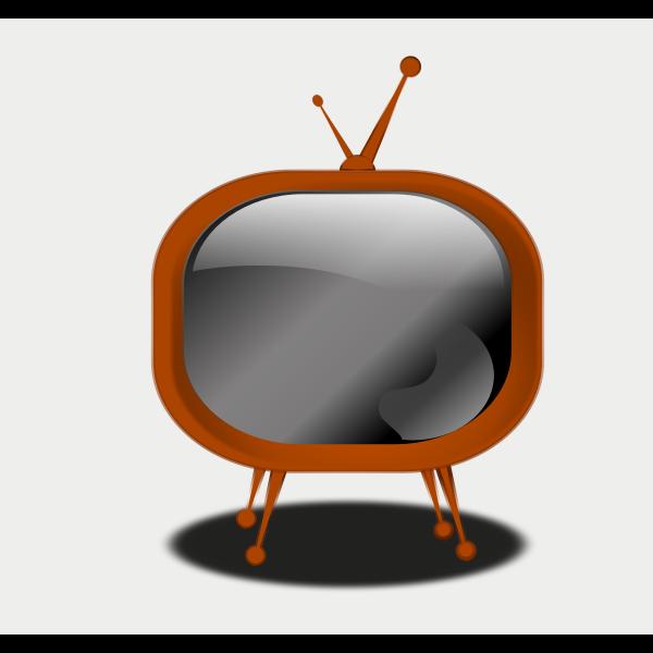 Certoon vector drawing of a TV set