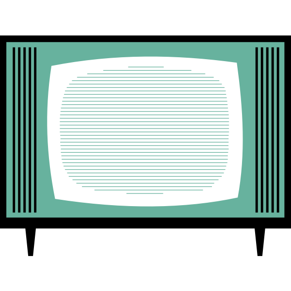 TV set vector illustration