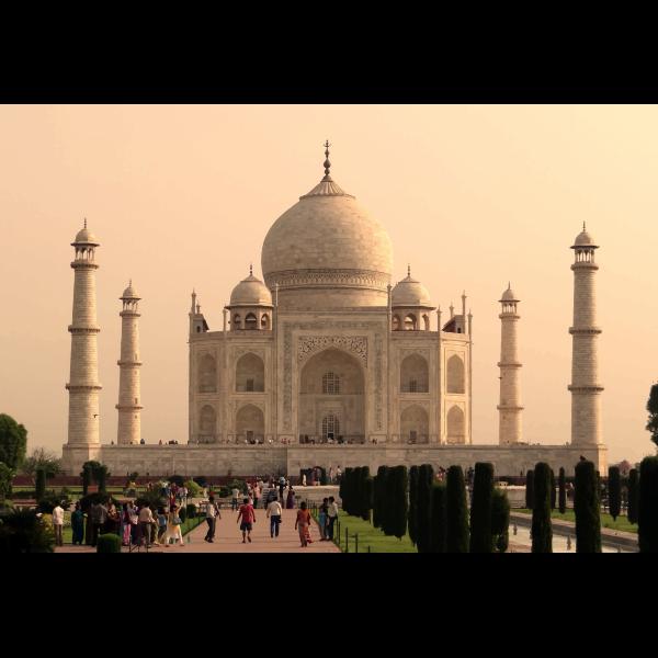 Taj Mahal in full color vector image
