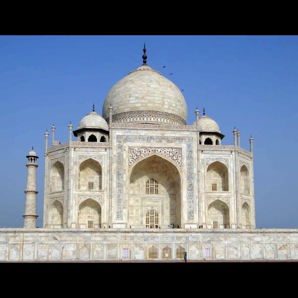 Taj Mahal photorealistic illustration