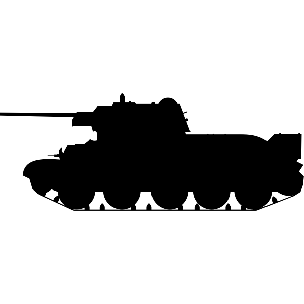 Tank T-34 silhouaette vector clip art