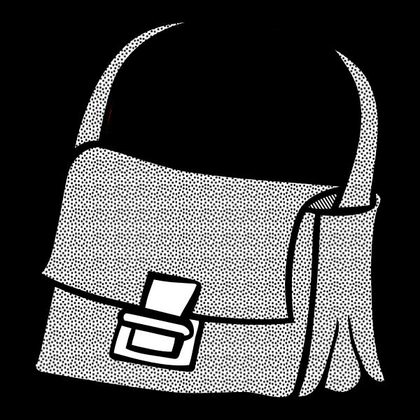Handbag line art vector clip art