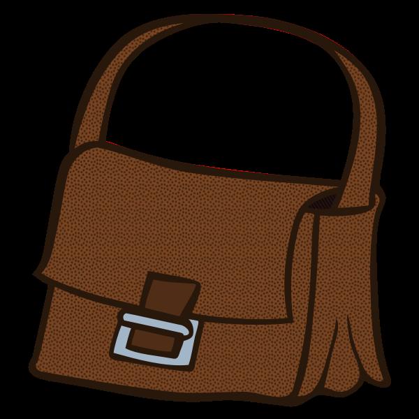 Brown handbag line art vector image