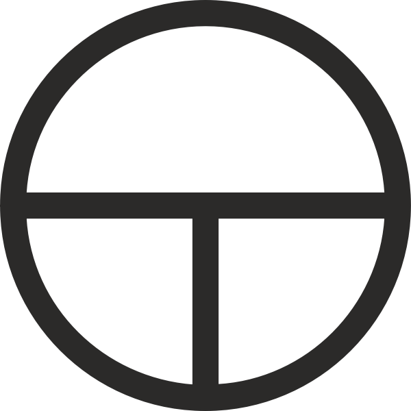 Tau Cross Encircled hieroglyph vector image