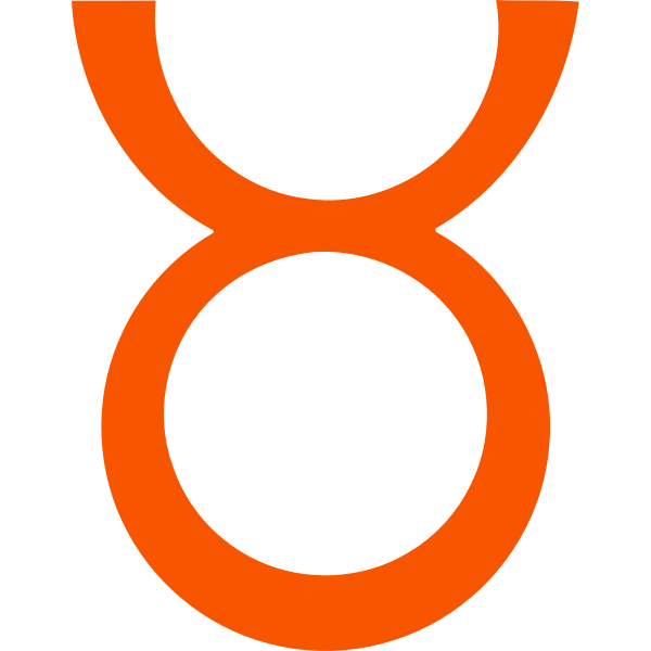Orange zodiac sign