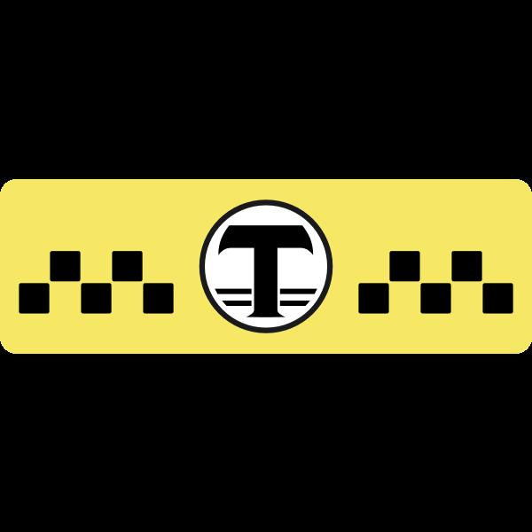 Soviet taxi emblem vector clip art
