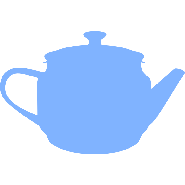 Silhouette vector image of a teapot
