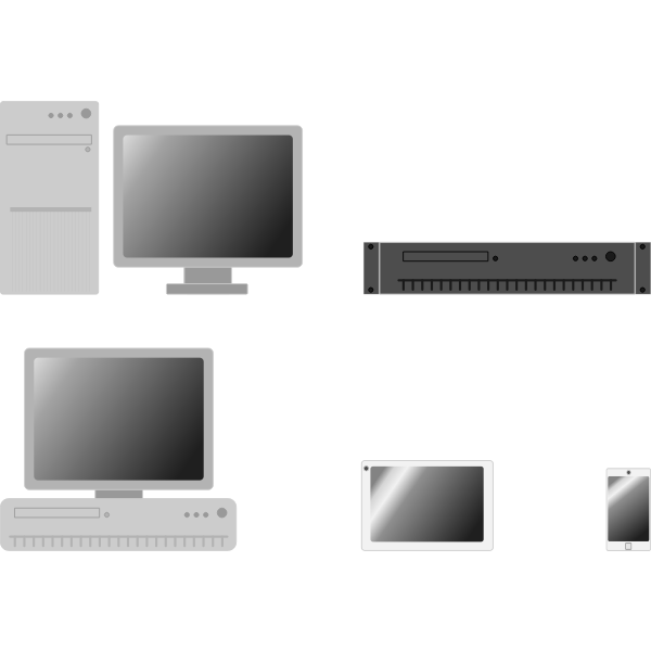 Online devices vector image