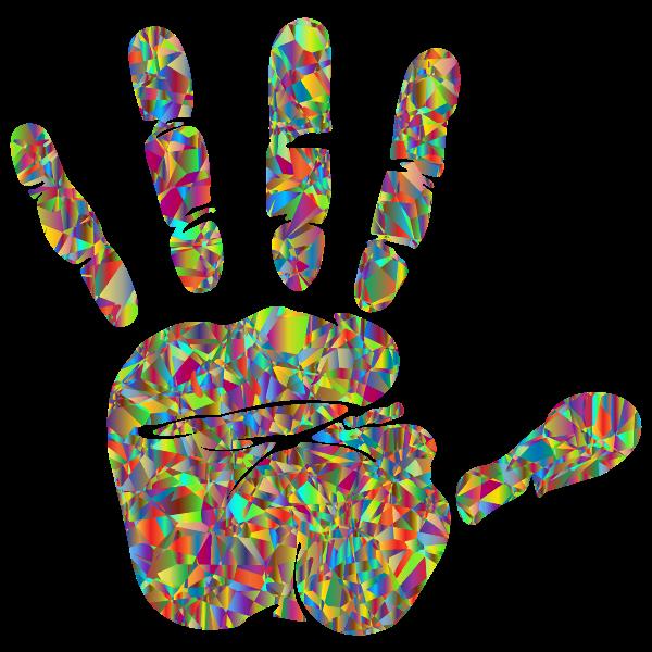 Technicolor Handprint Silhouette 2