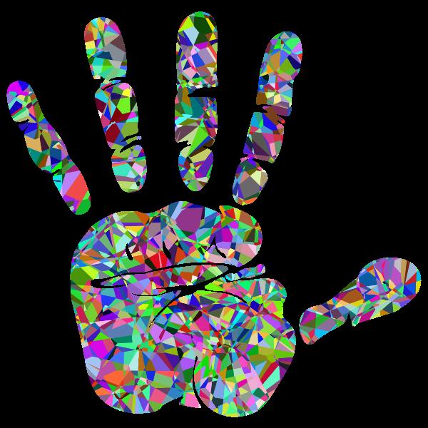 Technicolor Handprint Silhouette