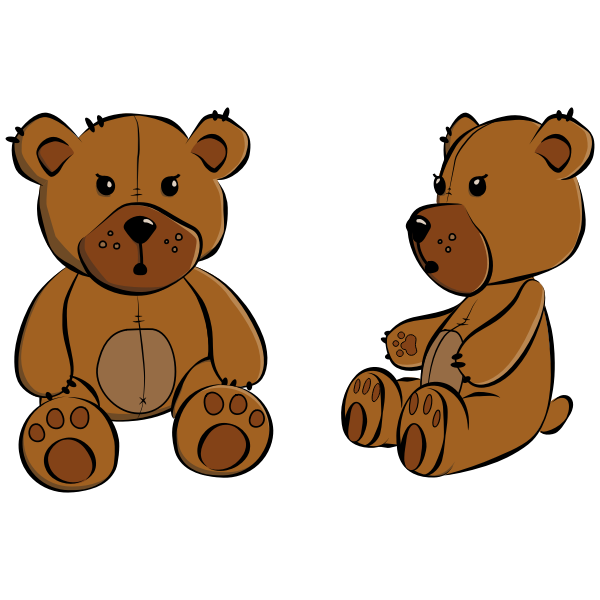 Vector image of stitched teddy bear