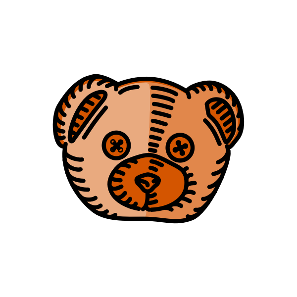 Teddy bear silhouette