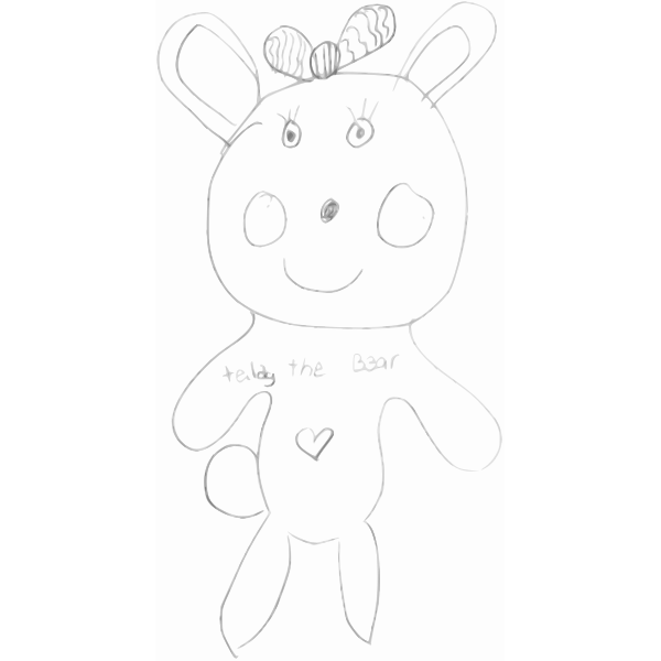 Kindergarten Art Teddy the Bear vector image