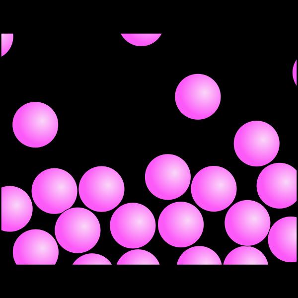 Random pink particles