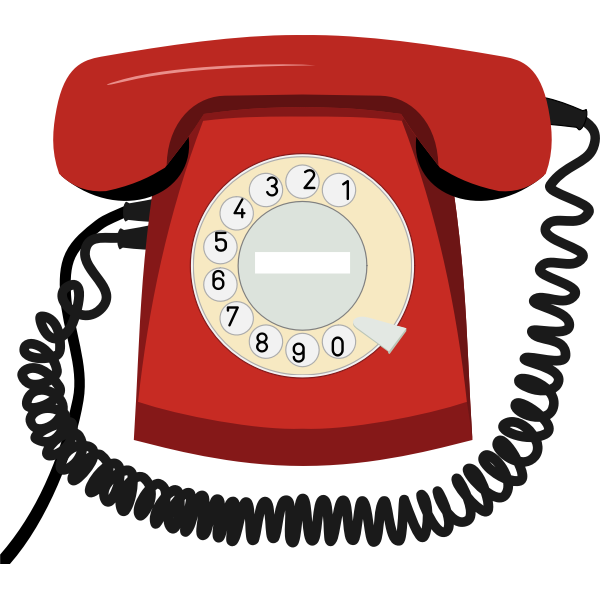 Old style telephone vector clip art