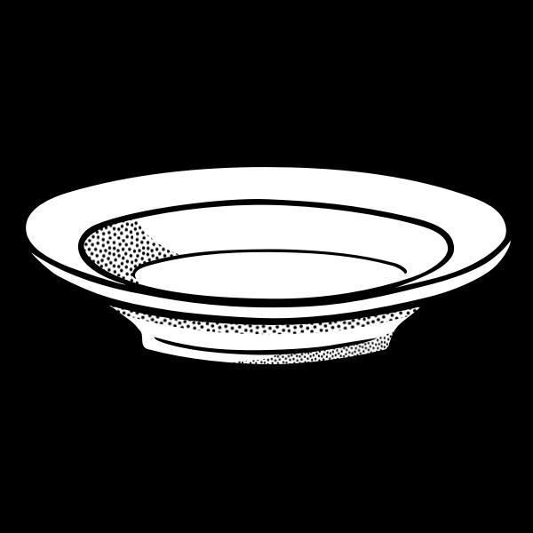 Deep plate line art vector drawing
