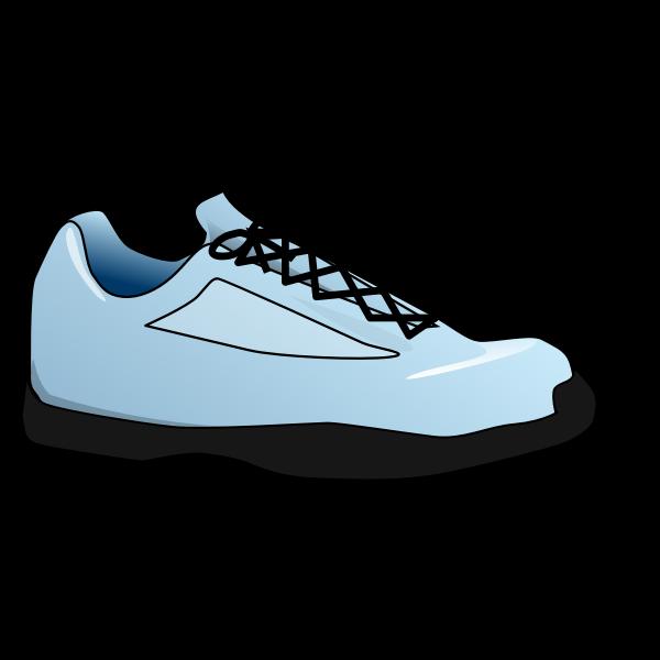 Blue tennis shoe vector image
