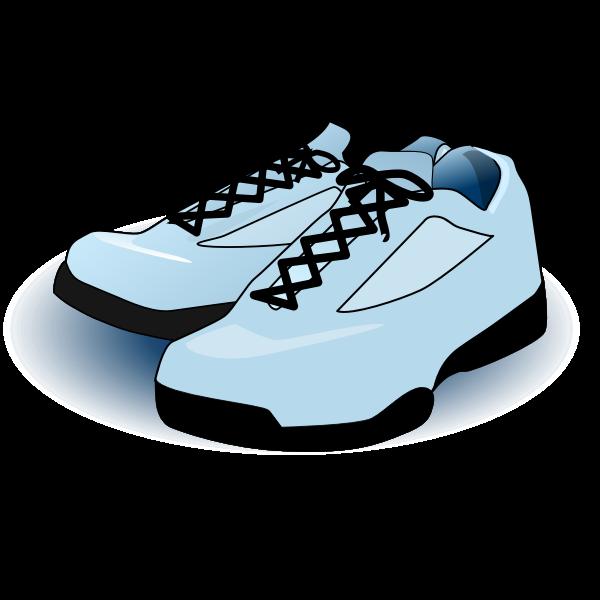Blue tennis shoes vector image