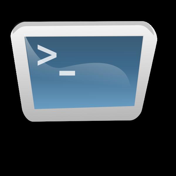 Desktop terminal vector image