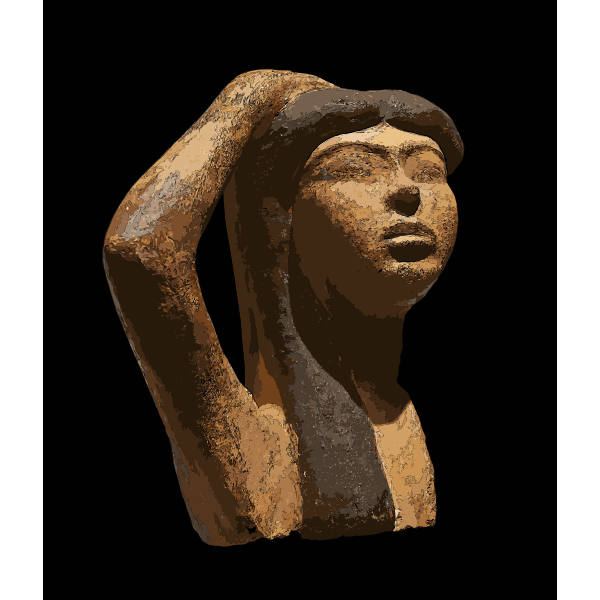 Statue in Louvre museum