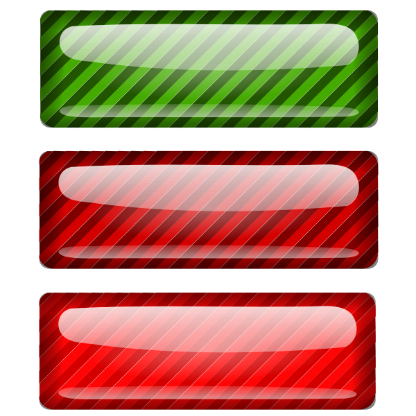 Three stripped red and green rectangles vector drawing