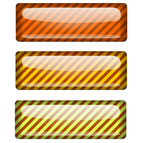 Three stripped colored rectangles vector illustration
