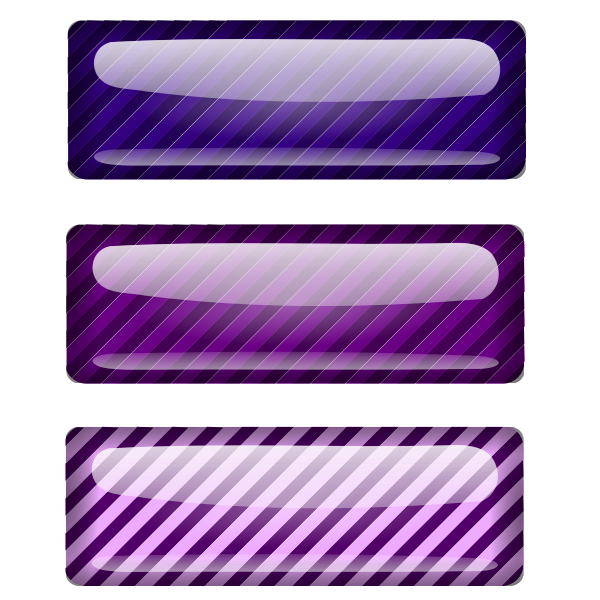 Three stripped purple rectangles vector graphics