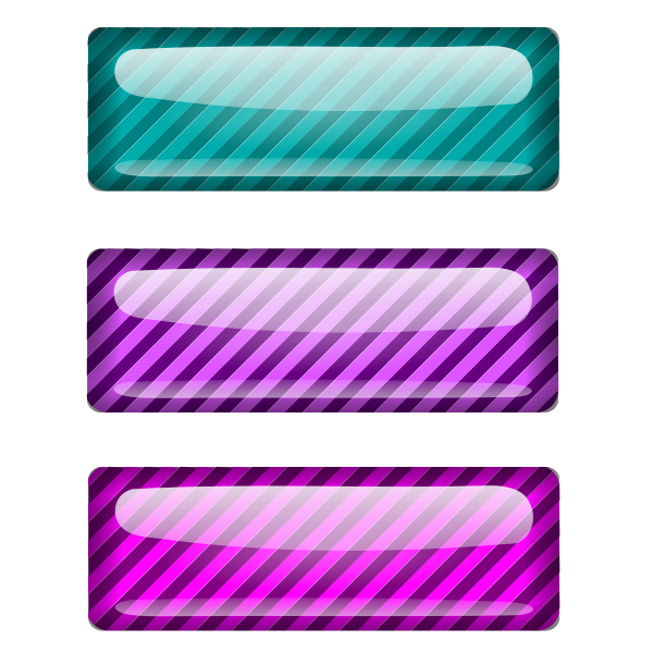 Three stripped blue and purple rectangles vector drawing